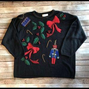 Lisa International 3X Vintage Christmas Sweater